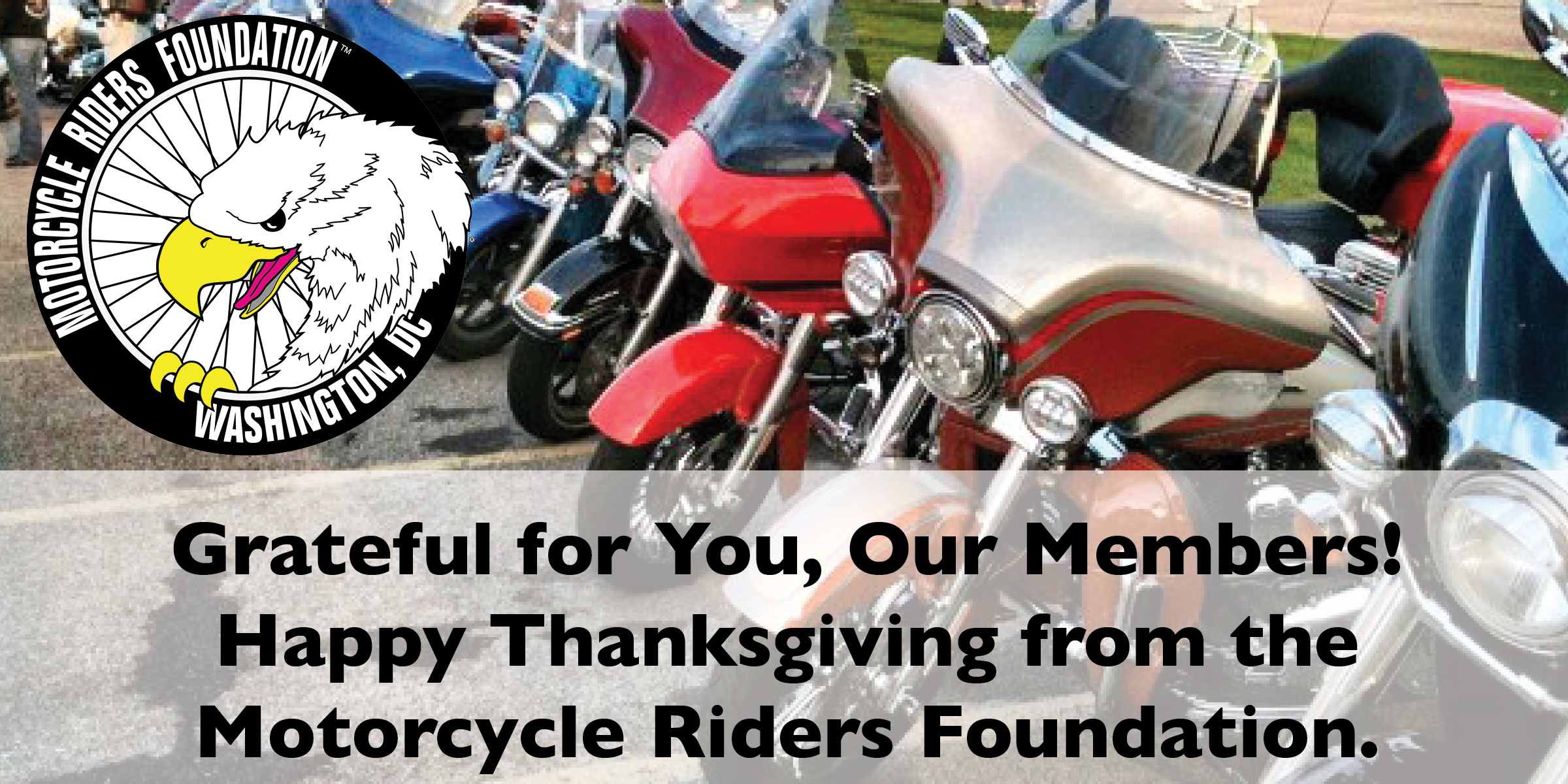 Happy Thanksgiving from the Motorcycle Riders Foundation